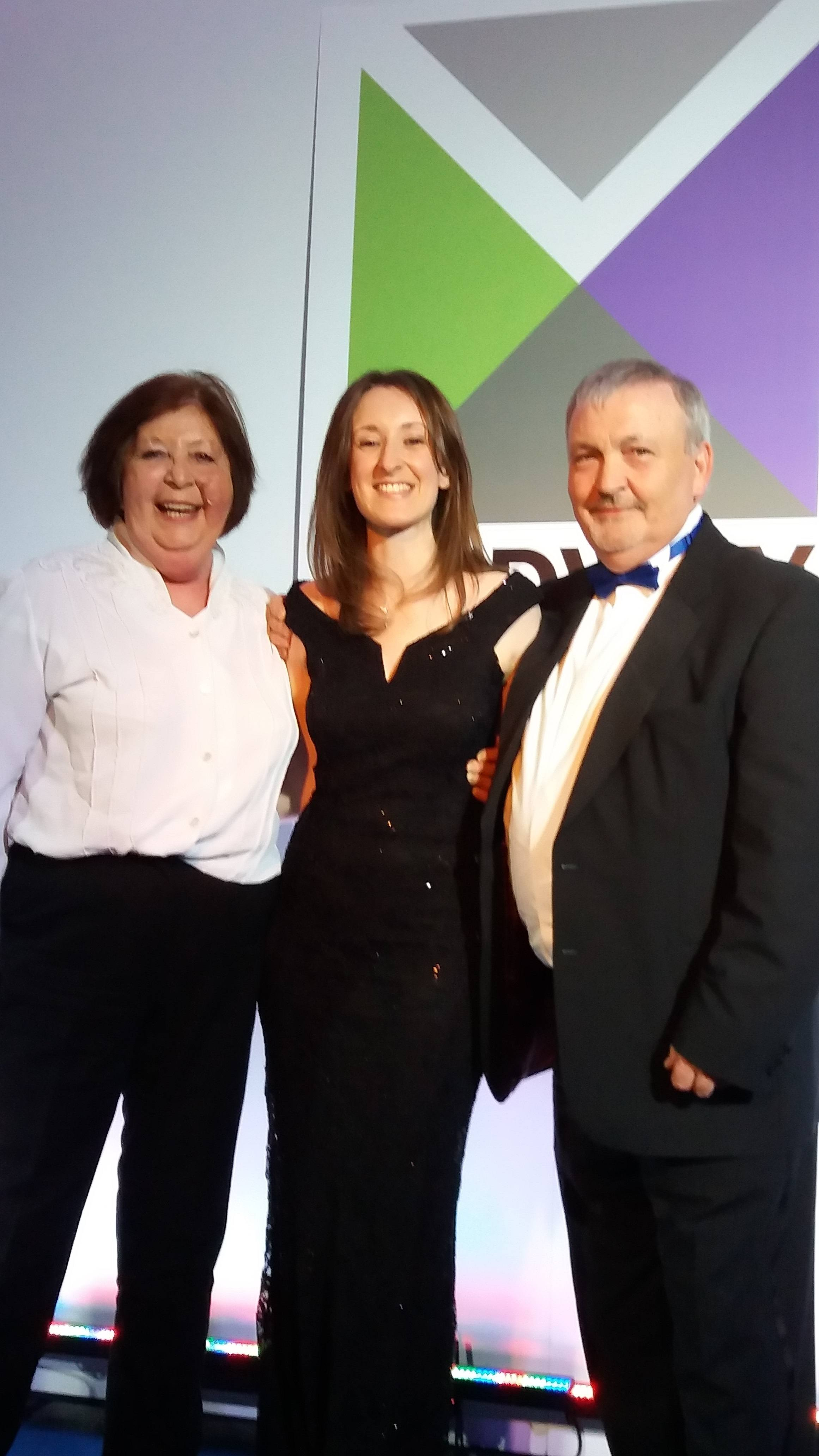 Cllr Chitty, Nicola Everett, and the Leader Cllr Jarrett at the Awards