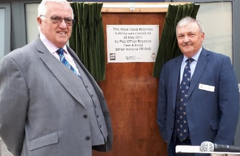 Alan Jarrett and Howard Doe at the opening of HMS President