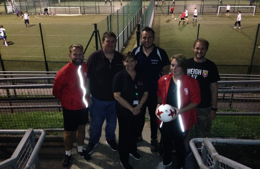 Councillor Mark Joy and the Team from Man Vs. Fat football league in Strood