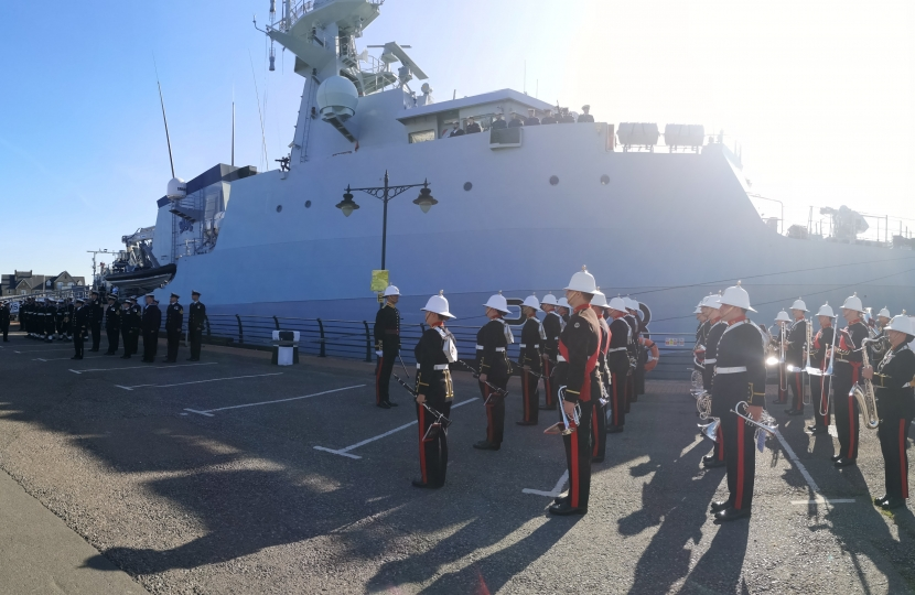 The commissioning ceremony