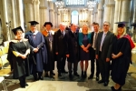 Councillors David Brake, Barry Kemp and Martin Potter with some of the University of Kent's Graduates