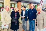 Councillors Chishti, Kemp and Aldous out meeting with residents in Rainham Central