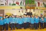 Cllrs. Gary Etheridge & John Williams with Derek King, Scout Group Leader, and members of the Beaver Scouts