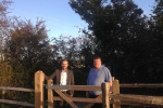 Cllrs. Fearn and Joy at the new gate