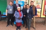 Councillor Mark Joy, Natalie Jarvis and Jim Gilbourne with Police & Crime Commissioner Matthew Scott & MP Rehman Chisti