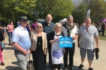 Councillors Barry Kemp, Jan Aldous, Gary Etheridge, Wendy Purdy, John Williams and David Wildey all lending a hand at the WI tent