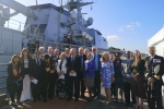 Medway Conservative Councillors and MPs along with friends, family and Naval officers at the commissioning
