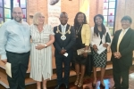 Councillors Gloria Opara and Tashi Bhutia with the Mayor and Mayoress at the installation