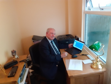 Councillor Brake hosting the webinar